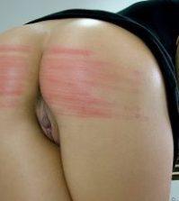 bdsm spanking med bælte