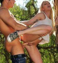 sex i det fri skoven